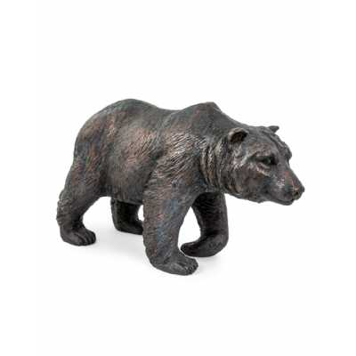Antique Bronze Extra Large Grizzly Bear Figurine