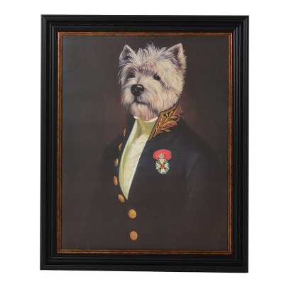 The Westie Officers Mess Framed Wall Art Picture by Thierry Poncelet