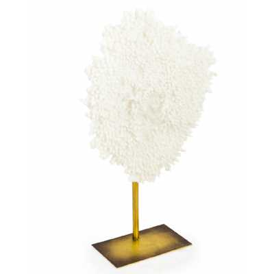 Large Coral Decor On Gold Metal Base