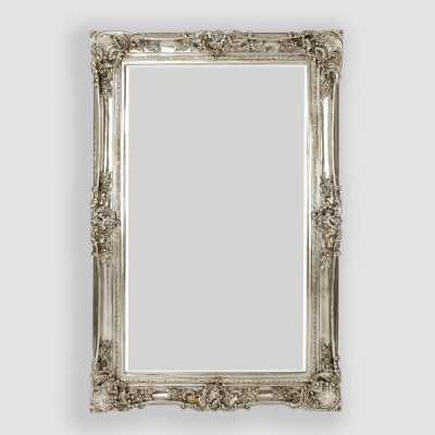 Decorative Silver Floor Standing Bevelled Mirror