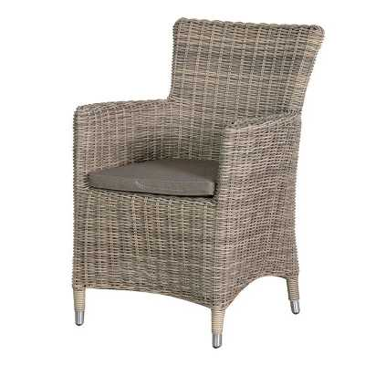 London Outdoor Garden Rattan Dining Chair with Cushion