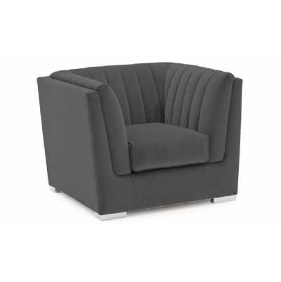 Upton Armchair 1 Seater Fixed Charcoal