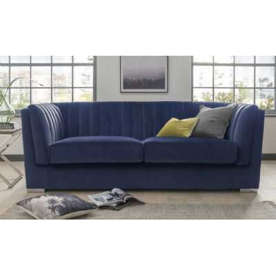 Upton Grand 3 Seater Fixed Blue