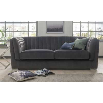 Upton Grand 3 Seater Fixed Charcoal