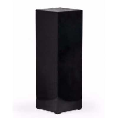 Modern Pedestal Tall Square Black Glass Display Column Plant Stand