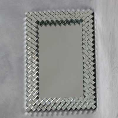 Large Deco Venetian Dice Border Mirror