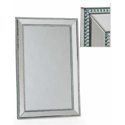 Medium Venetian Pearled Style Edge Mayfair Glass Wall Mirror