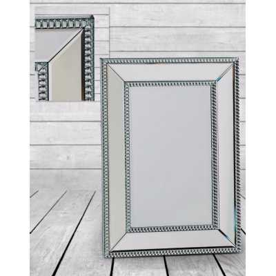 Small Venetian Pearled Style Edge Mayfair Glass Wall Mirror