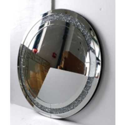 Mirrored Vintage Venetian crushed Diamond Round Mirror