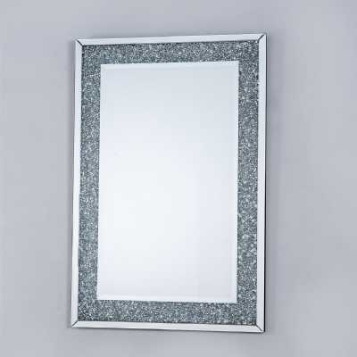 Mirrored Vintage Venetian crushed Diamond Rectangle Mirror