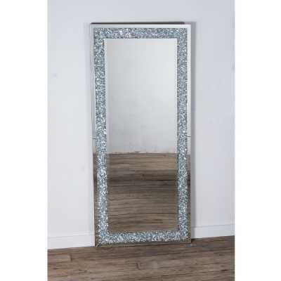 Mirrored Vintage Venetian crushed Diamond Rectangle Floor Mirror