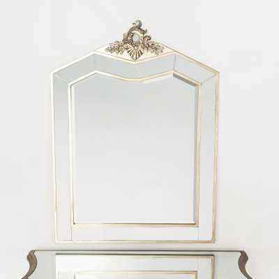 Annabelle French Silver Leaf Rocaille Bevelled Decorative Wall Mirror