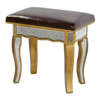 Antique Gold Dressing Table Stool