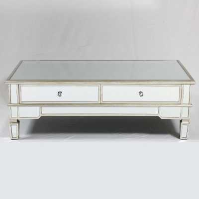 Genevieve Gold Mirrored Coffee Table