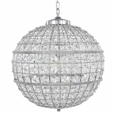 Vienna Large Clear Cut Glass Ceiling Light