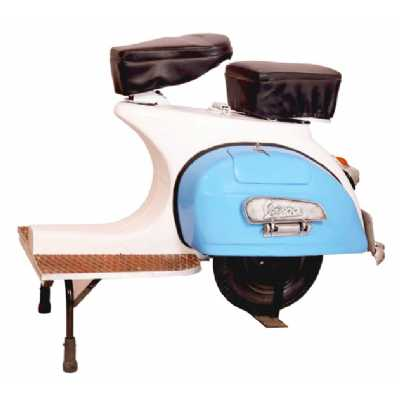 Industrial Style Vespa Furniture Upcycled Original Motorcade Themed Living Room Stool 50 x 106cm