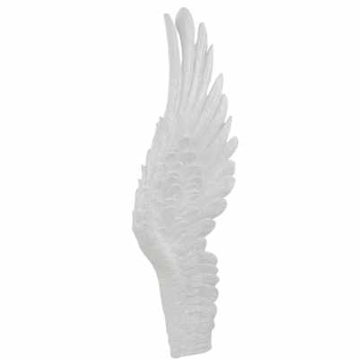 Right Shiny White Angel Wing Wall Decoration