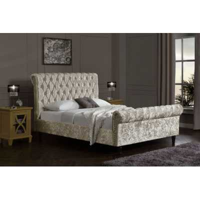Chesterfield Velvet King Size Bed Upholstered Oyster Velvet Bed Frame