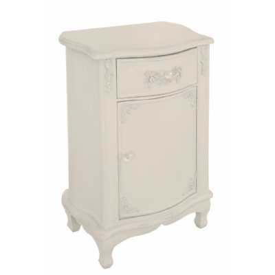 Period Shabby Chic Mocha Wooden One Drawer Pot Cupboard Bedside