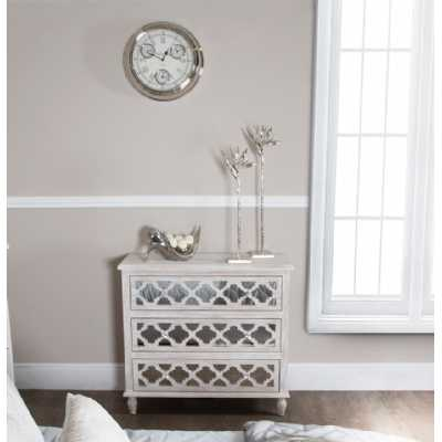 brighton beach washed ash mirror cabinet chest of 3 drawers