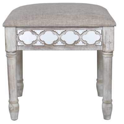 Marrakech Patterned Mirrored Glass Dressing Table Stool