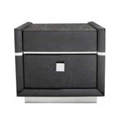Aria Dark Grey Walnut 2 Drawer Bedside Cabinet
