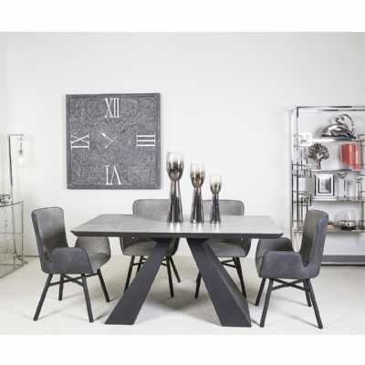 Soho Grey And Black Dining Table