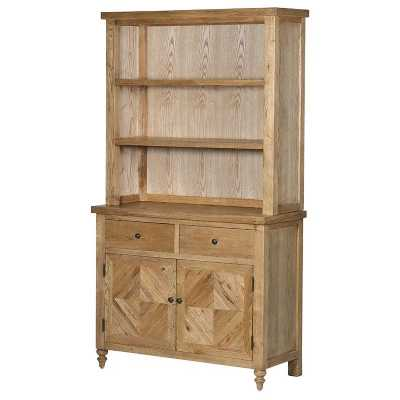 Traditional Style Ribchester Oak Parquet Tile Effect 2 Door Dresser