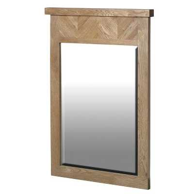 Traditional Ribchester Parquet Patterned Rectangular Oak Mirror