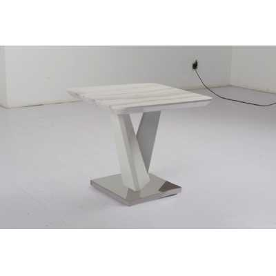 Aria Modern White Lamp Side Table