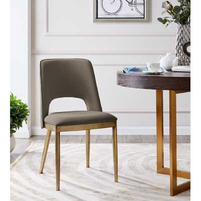 Morgan Dining Chair Taupe Faux Leather