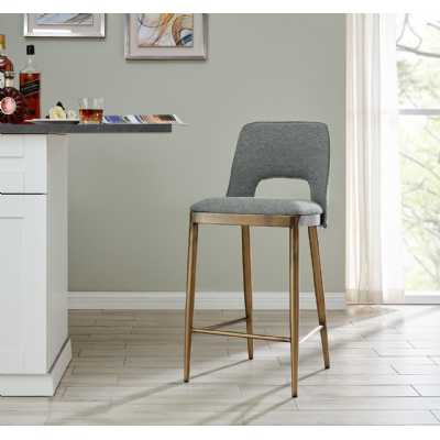 Morgan Barstool Grey Linen