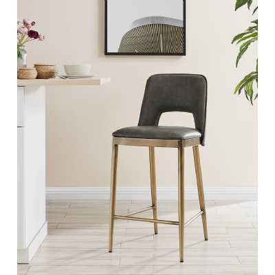 Morgan Barstool Vintage Grey Faux Leather
