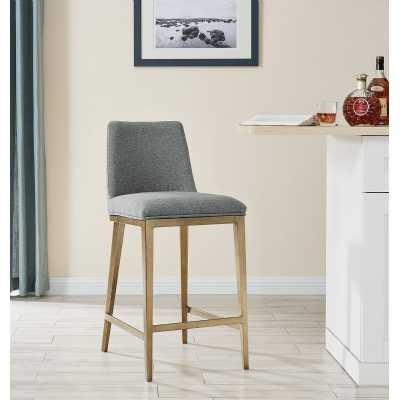 Bay Barstool Grey Linen