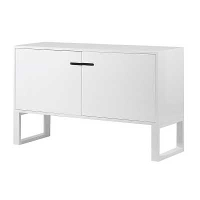 Contemporary White High Gloss 2 Door Sideboard