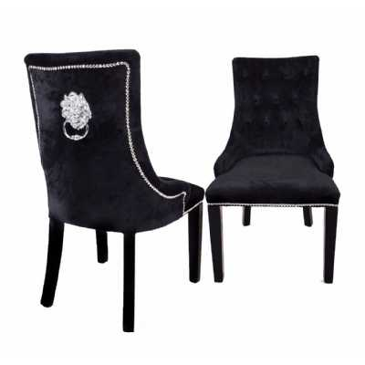 Lion Dining Chair Black