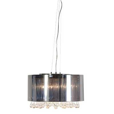 Unique Modern Chrome and Glass Tear Drops Chandelier Ceiling Light