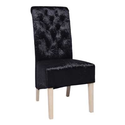 Blue Velvet Chair with Studded Detail And Knocker