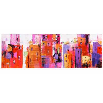 Artistic And Vibrant Paintings Urban Abstract Canvas Rectangular Wall Decor 50x150cm
