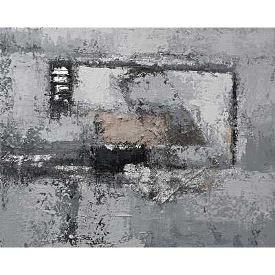 Contemporary Style Paintings Grey Abstract Canvas Wall Art 100 x 70cm