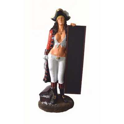 Pirate Lady Menu Board Lifesize Chalk Advertising Board