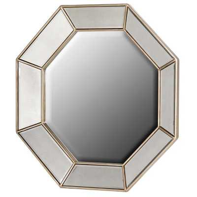 Venetian Mirrored Glass Octagonal Wall Mirror