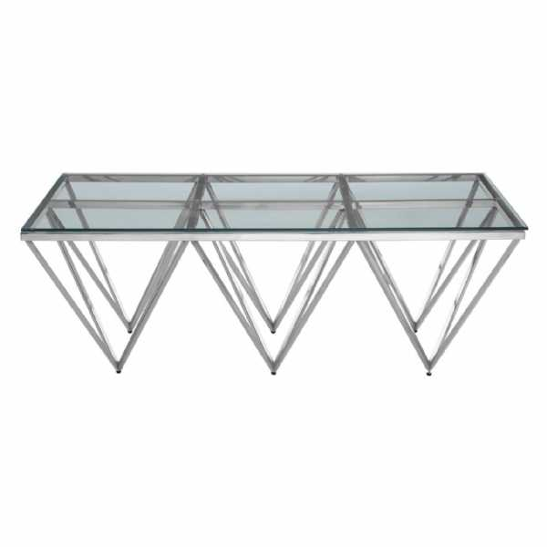 Fifty Five South Allure Spike Triangles Base Console Table