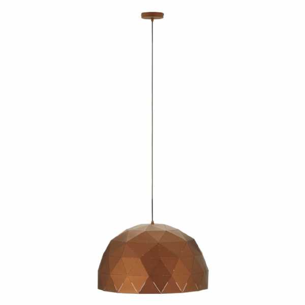 Vintage Geometric Mateo Large Coffee Finish Steel Dome Pendant Light