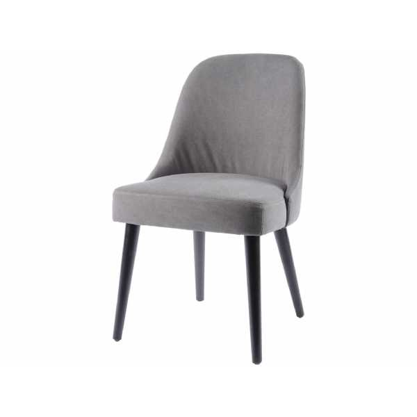 Mayfair Curved Back Dining Chair with Charcoal Grey Cotton Seating