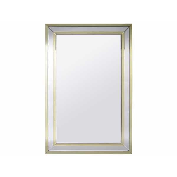 Champagne And Silver Rectangular Mirror
