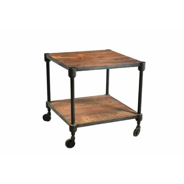Handicrafts Iron and Reclaimed Timber Side Table