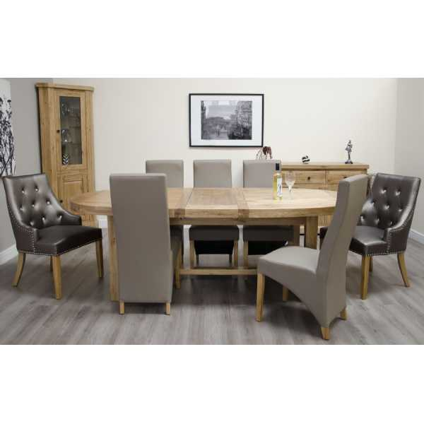 Deluxe Super Oval Extending Table 2100+(2x400)