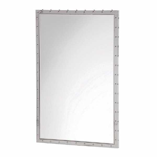 Stainless Steel Framed Wall Mirror
