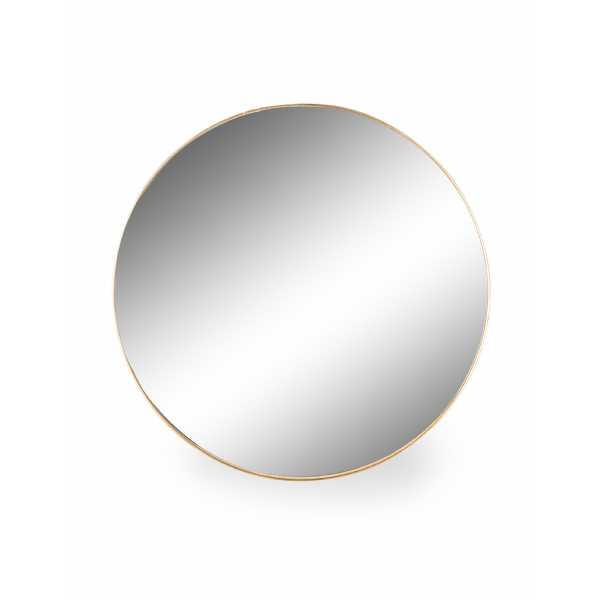 Extra Large Round Gold Thin Framed Arden Wall Mirror 90cm Diameter